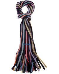 Paul Smith Black Label - Striped Wool Scarf - Lyst