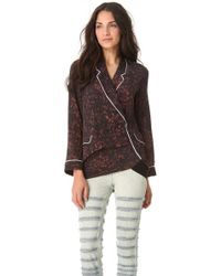 3.1 Phillip Lim - Spotted Pony Twisted Pajama Top - Lyst