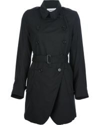 Ann Demeulemeester Belted Trench Coat - Lyst