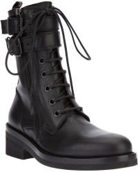 Ann Demeulemeester Blanche - Buckled Military Boot - Lyst