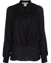 Avhash by Anne Valérie Hash - Double Layer Voile Blouse - Lyst