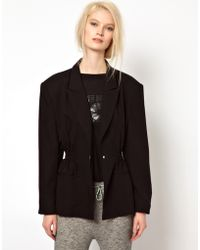Back by Ann-Sofie Back - Back By Ann-Sofie Back Boxer Jacket With Statement Shoulders - Lyst