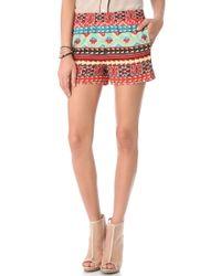 BCBGMAXAZRIA Printed Shorts - Lyst