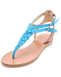 Belle By Sigerson Morrison Rank Braided Flat Sandals - Lyst