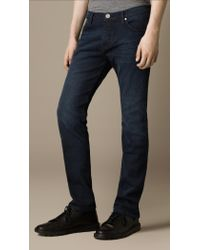 Burberry Steadman Hand Dyed Indigo Slim Fit Jeans - Lyst