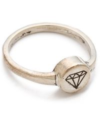 Cast Of Vices - Engraved Ring - Lyst
