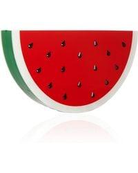 Charlotte Olympia Watermelon Perspex and Swarovski Crystal Clutch - Lyst