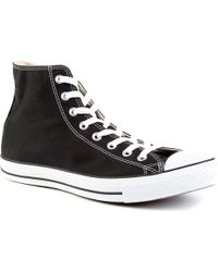 Converse All Star Black-canvas High-tops - Lyst