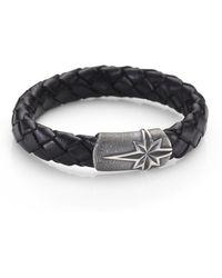 David Yurman Braided Leather Bracelet - Lyst