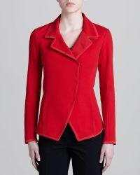 Donna Karan New York Convertible collar Knit Jacket - Lyst