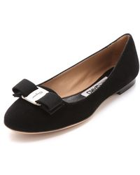 Ferragamo Scott Smoking Flats - Nero black - Lyst