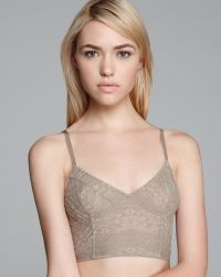 Free People Bra Lace Cropped Bustier - Lyst