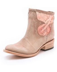 Freebird by Steven Cabcro Leather Booties with Cutout - Lyst