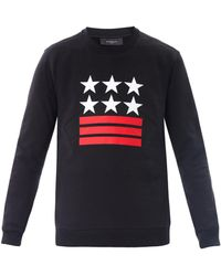 Givenchy Stars and Stripes Print Sweatshirt black - Lyst
