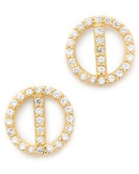 Gorjana - Lena Shimmer Stud Earrings - Lyst