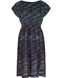 HaaT - Black Stripe Textured Dress - Lyst