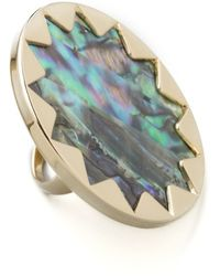 House of Harlow 1960 - Abalone Sunburst Cocktail Ring - Lyst