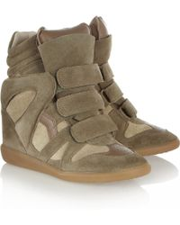 Isabel Marant The Bekett Suede Concealed Wedge Sneakers - Lyst