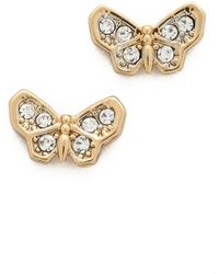 Juicy Couture - Pave Butterfly Stud Earrings - Lyst
