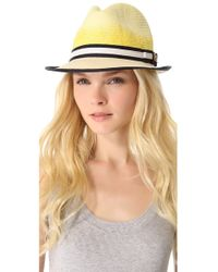 Juicy Couture   Ombre Straw Fedora   Lyst