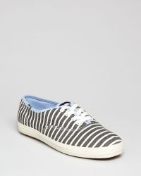Keds Lace Up Sneakers Champion Stripe - Lyst