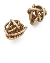 Kelly Wearstler - Brass Knot Earrings - Lyst