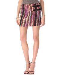 Kelly Wearstler Eyelash Tweed Skirt - Lyst