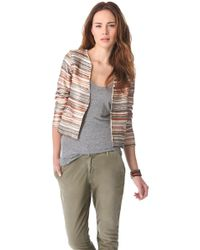 Love Sam - Embroidered Stripe and Sequin Jacket - Lyst