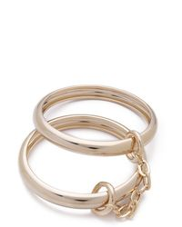 Made Her Think - Double Band Bangles - Lyst