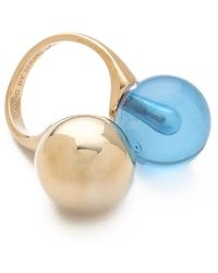 Marc By Marc Jacobs - Ball Chains Double Ring - Lyst