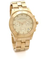 Marc By Marc Jacobs Large Blade Chrono Watch - Gold - Lyst