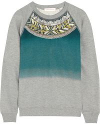 Matthew Williamson - Embellished Cotton Sweatshirt - Lyst