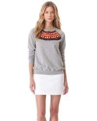 Matthew Williamson - Embroidered Sweatshirt - Lyst