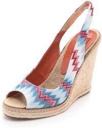 Missoni Wedge Slingback Heels multicolor - Lyst