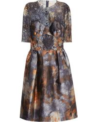 Mulberry - Tie Dye Satin and Lace Dress - Lyst