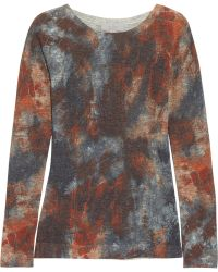 Mulberry Tiedye Tiger Printed Woolblend Sweater blue - Lyst