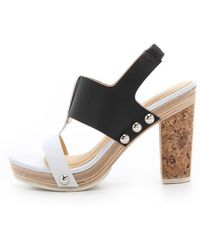 Nanette Lepore High-ball Heel Sandals - Lyst
