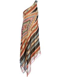 Ralph Lauren Blue Label - Asymmetric Shoulder Strap Dress - Lyst