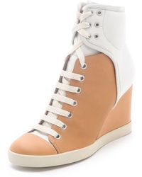 See By Chloé Two Tone Wedge Sneakers - Lyst