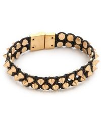 Serefina - Spike Leather Luxe Cuff - Lyst