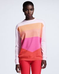Stella McCartney Colorblock Cashmere Sweater Pink - Lyst