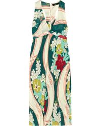 Suno Printed Jersey Maxi Dress - Lyst