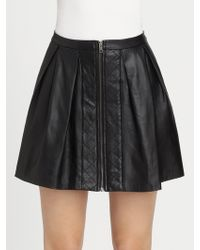 Timo Weiland - Alena Quilted Pleated Leather Skirt - Lyst