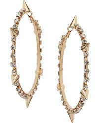Topshop Rhinestone Spike Hoop Earrings - Lyst