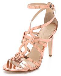 Vera Wang - Haru Mirror Strappy Sandals - Lyst