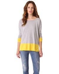 Vince Banded Colorblock Slub Sweater - Lyst