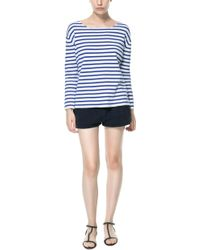 Zara Casual Shorts with Side Straps - Lyst