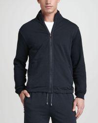 Zegna Sport - Zipfront Track Jacket Navy - Lyst