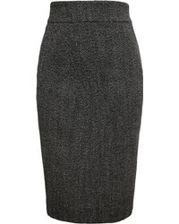 Antonio Berardi Virgin Wool And Alpaca Pencil Skirt - Lyst