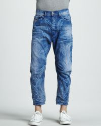 Diesel Cropped Carrot Jeans - Lyst